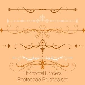 Horizontal Dividers Photoshop Brushes