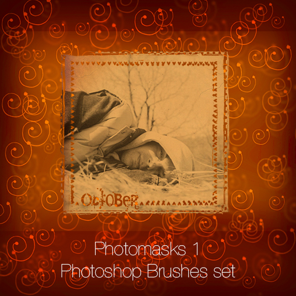 Photomasks Set Photoshop Brushes
