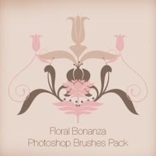 Floral Bonanza Photoshop Brushes Pack