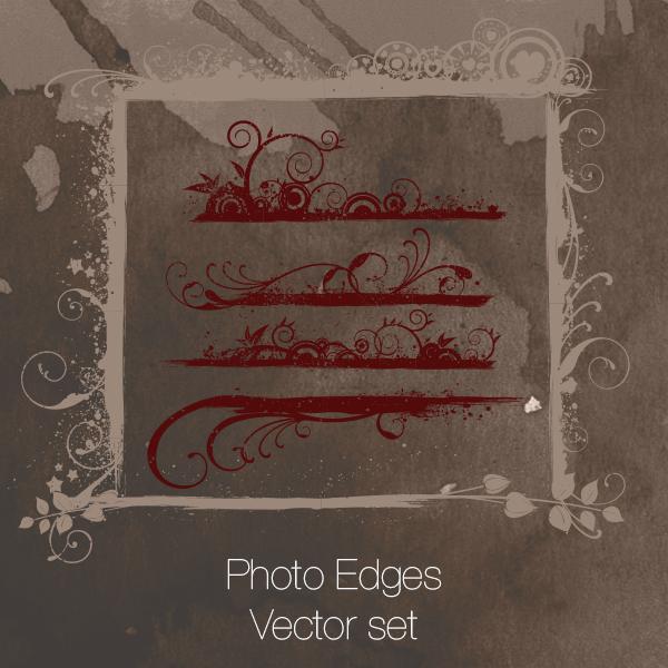 Photo Edges Vector set