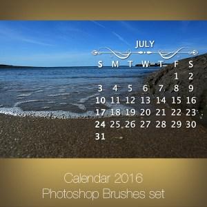 Calendar 2016 Photoshop Brushes