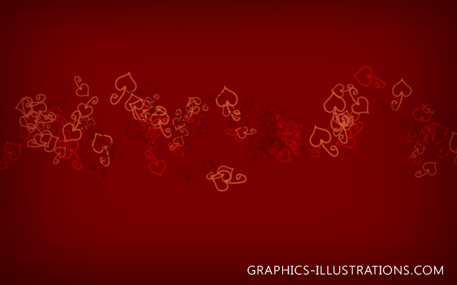 Free Doodle Hearts Photoshop brushes and Background
