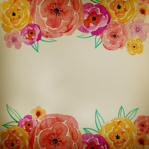 126 Watercolor Floral Backgrounds