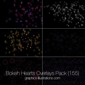 Bokeh Hearts Overlays (155)