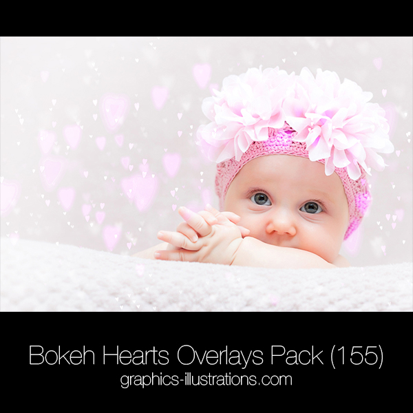 Bokeh Hearts Overlays Pack (155)