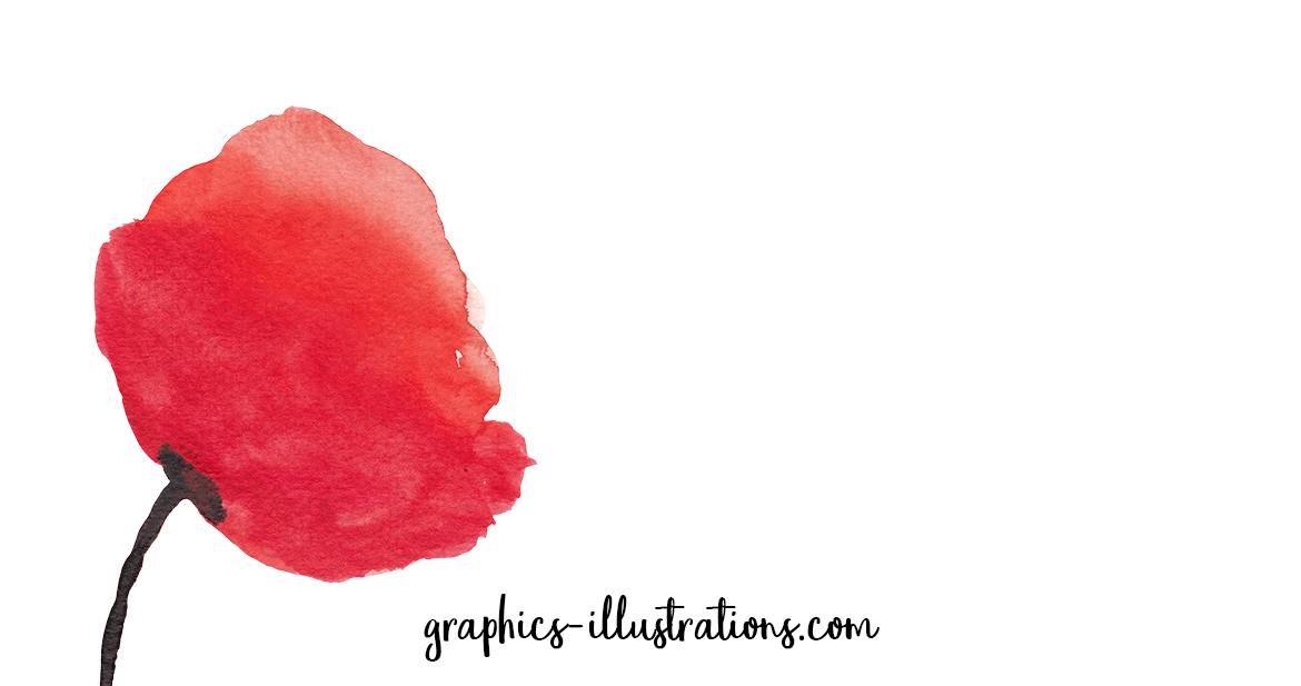 Watercolor Poppies Clip Art Set - Free Download