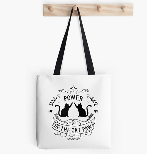 Power of the cat paw - Cat tote bag image