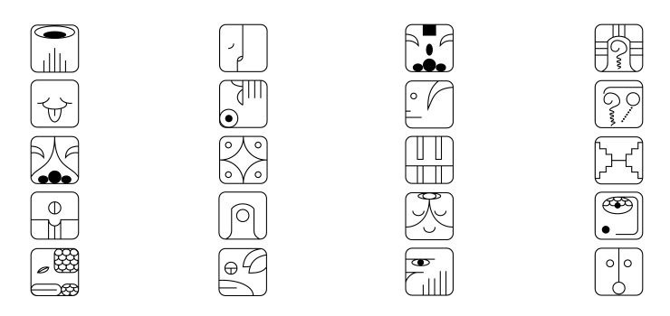 Mayan Calendar Pictograms [EPS] – And Some Thoughts On Ch-Ch-Ch-Changes