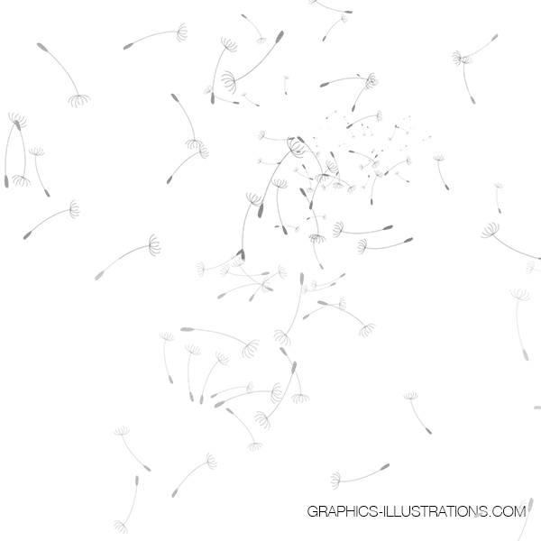 Gold, Rose Gold and Silver Foil Dandelion Clip Art