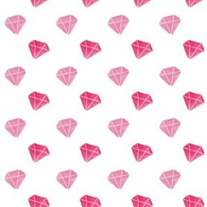 Watercolor Diamond Backgrounds, Seamless Patterns