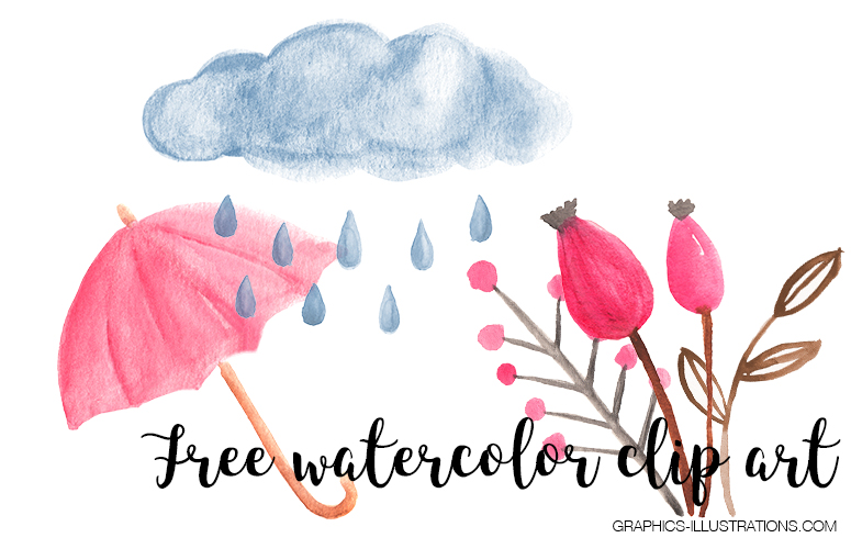 Brand New Watercolor Clipart Pack