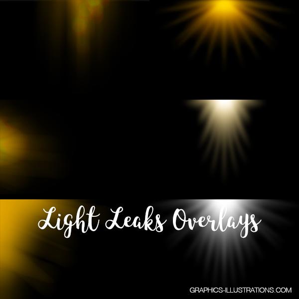 Light Leak Overlays For Photoshop Pack
