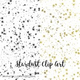 Stardust Clip Art for Hot Foil Printing