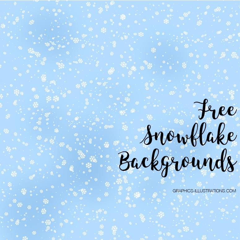 Free Snowflakes Digital Papers