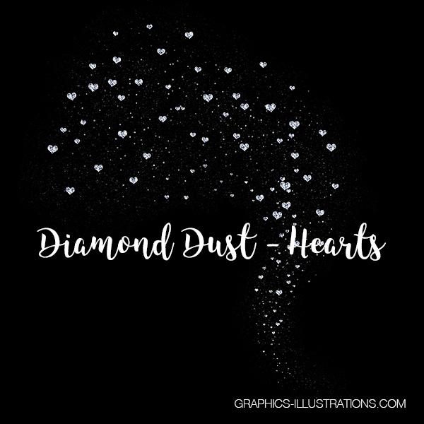 Diamond Dust, Hearts, Valentine's Day Clip Art