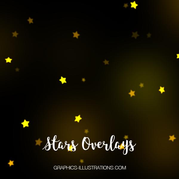 Gold Stars Photo Overlays