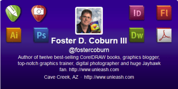 Free Twitter Header Template For CorelDRAW and Corel PHOTO-PAINT