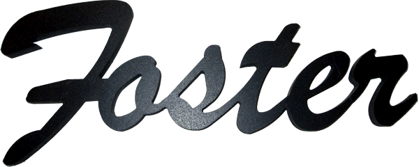 CNC cut cursive name