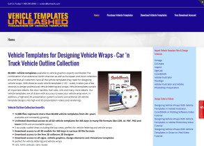 Vehicle Templates Unleashed Provides New Site For Wraps, Rhinestones, Signs and More