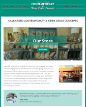 Cave Creek Contemporary and Kenn Cross Concepts Web Site Makeover