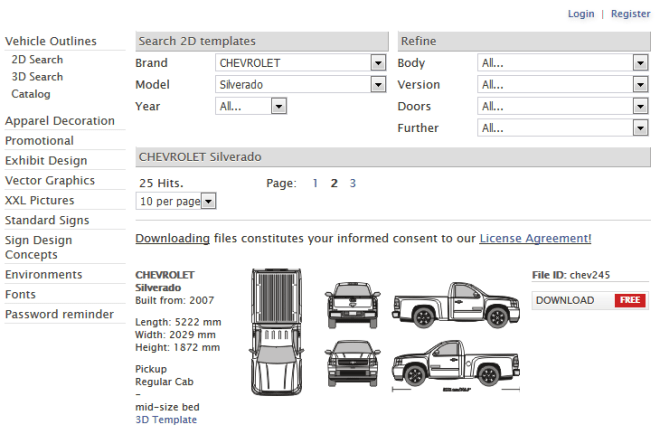 vehicle-template-search
