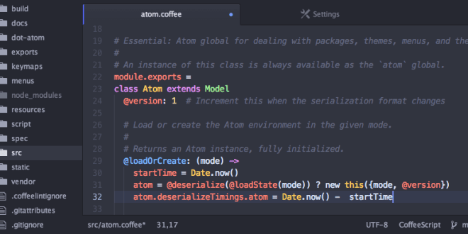 Atom Hackable Text Editor Powerful Free Web Design Tool