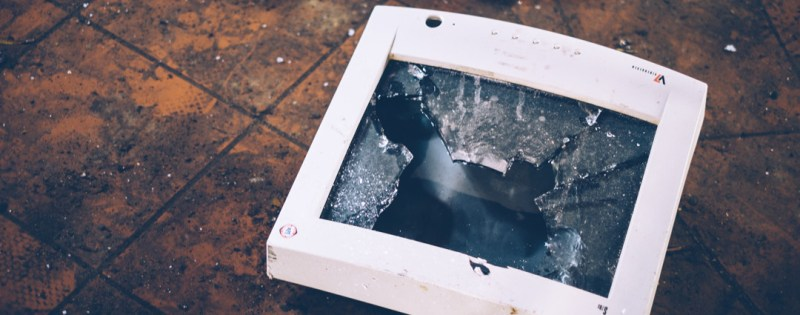 Shattered Computer Monitor