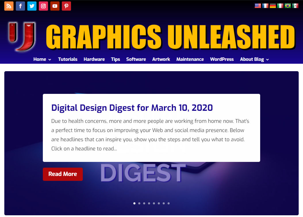 Graphics Unleashed Home Page 2020