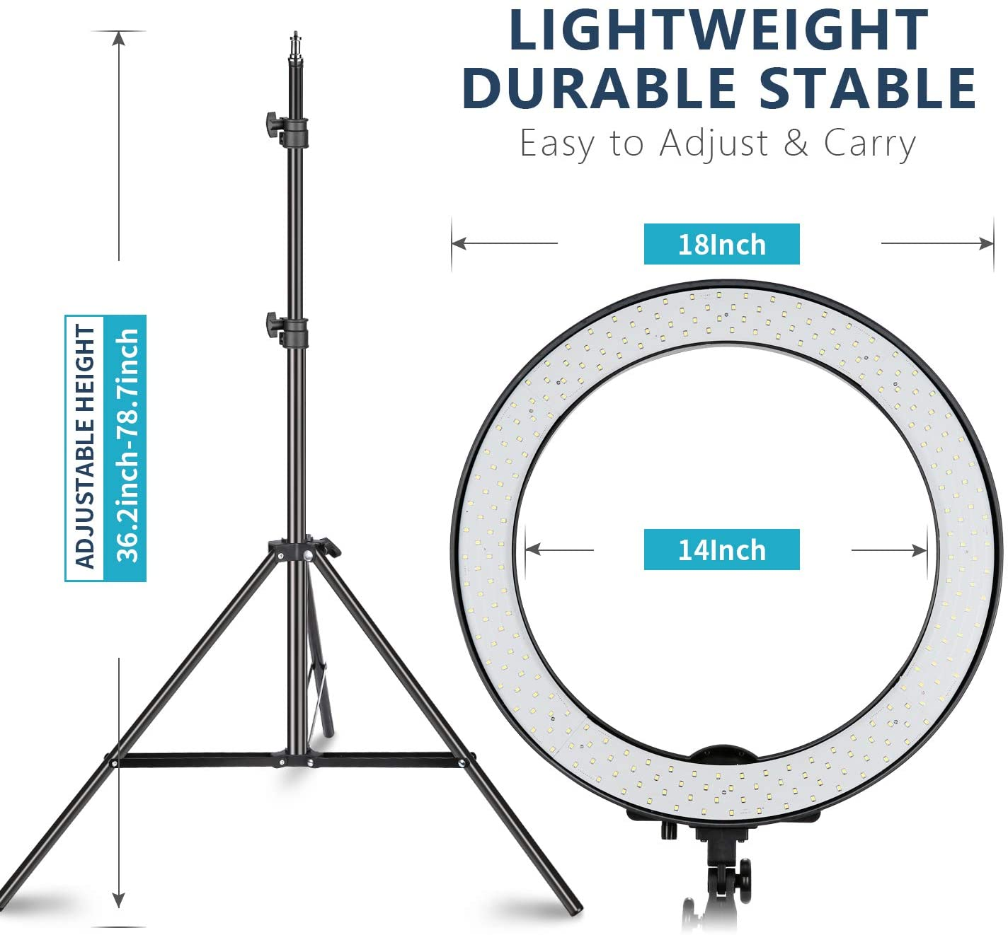 Neewer 18-inch SMD LED Ring Light Dimmable Lighting Kit