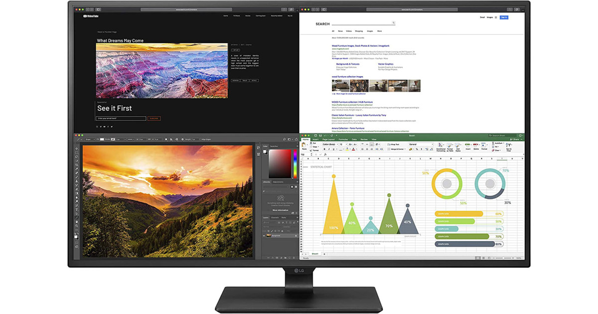 LG 43UN700-B 43 Inch Class UHD (3840 X 2160) IPS Display