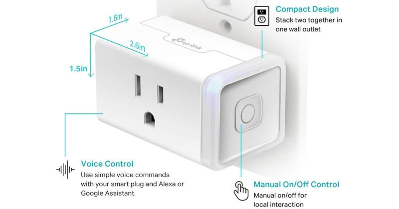 Kasa Smart Plug HS103P4 Smart Home Wi-Fi Outlet