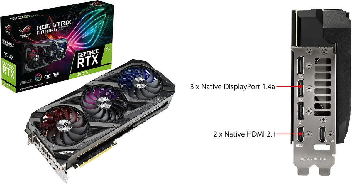 ASUS ROG Strix NVIDIA GeForce RTX 3070 Ti OC Edition Gaming Graphics Ca