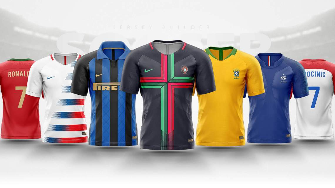 Download Football, Soccer jersey builder template V.1 - Sports ...