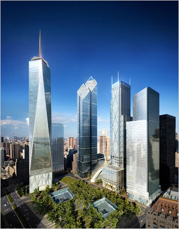 Designs Unveiled for Freedom Tower's Neighbors