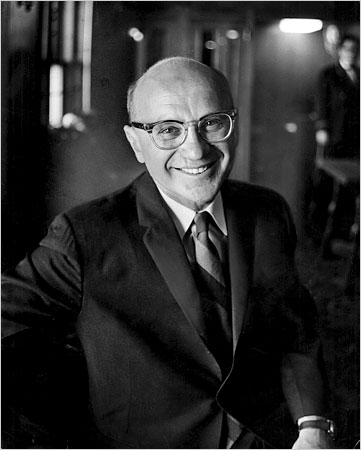 Milton Friedman in 1964, NY Times photo