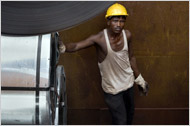 A worker at a steel mill in India.