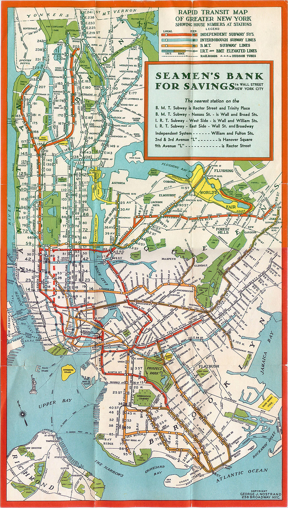 una vecchia mappa della rete di trasporti di NYC. Morningside Park allepoco non esisteva ancora e dove cè la Columbia sorgeva il Lunatic Asylum. Che ci frega? Niente. Dettagli insignificanti :\