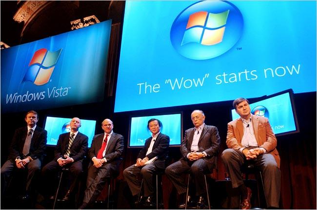 Executives help launch Windows Vista!