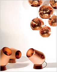 tom dixon copper lighting