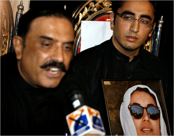 Bhutto's Son and Husband to Lead Party