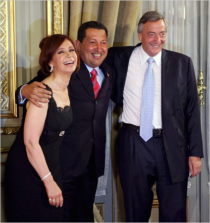 Kirchner pals around with Hugo the terrorist.  (see what I did there?)