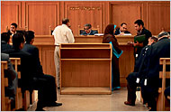 The practical application of Shariah in most Muslim countries (as here, in this Egyptian courtroom) is in matters of family law.