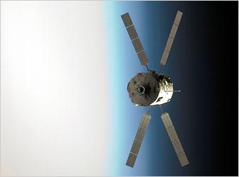 The Jules Verne in orbit