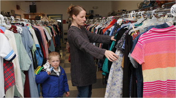 from the New York Times article: For Many, Thrift Shops Are a Wardrobe Essential