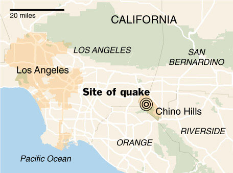 Site of Quake