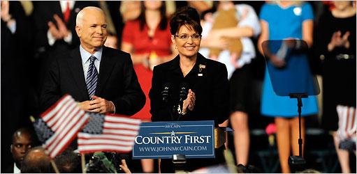 McCain Chooses Palin as Running Mate