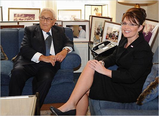 Henry Kissinger and Sarah Palin together