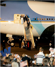 Hopefully, this is the last Bush on Air Force One.