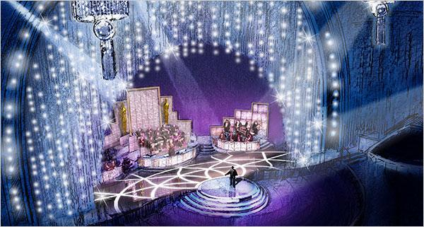 El escenario de los Oscars 2008