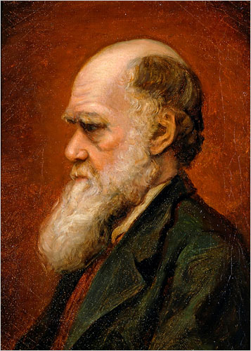 Laura Russell, portrait of Charles Robert Darwin, 1869, private collection